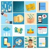 Für Sie Entwurf Sammlung des Geschäfts, Geld Lizenzfreies Stockbild