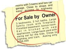 Für Verkauf durch Owner Ad Lizenzfreie Stockbilder