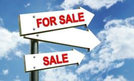 Für Verkauf singen Sie Lizenzfreie Stockfotografie