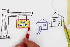 Für Verkauf Zeichen. Stockfotos