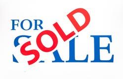 Für Verkaufs-Zeichen mit Verkaufsaufkleber Stockfoto