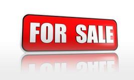 Für Verkaufsfahne Stockbilder