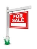 Für Verkaufsfahne Stockfoto