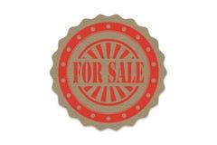 Für Verkaufsstempel auf Papier Lizenzfreie Stockfotografie