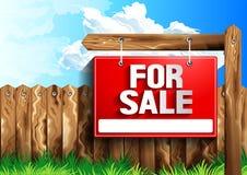 Für Verkaufszeichen stock abbildung