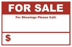 Für Verkaufszeichen Stockfotos