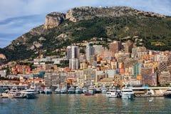 Fürstentum Monaco-Stadtbild Stockbild
