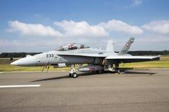 18 f战斗机大黄蜂喷气机 免版税图库摄影