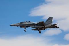 18 f战斗机大黄蜂喷气机 库存照片