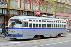 F线路古董路面电车,旧金山,美国 库存图片