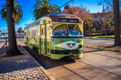 F线路电车在旧金山,加利福尼亚,美国 库存照片