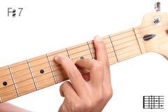 F锋利的统治第七个吉他弦讲解 库存图片