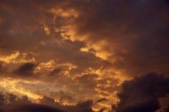 100f 2 θερινό velvia ταινιών fujichrome nikon s βραδιού φ φωτογραφικών μηχανών 8 28 301 AI Όμορφος σωρείτης στο ηλιοβασίλεμα Στοκ Εικόνες