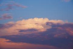 100f 2 θερινό velvia ταινιών fujichrome nikon s βραδιού φ φωτογραφικών μηχανών 8 28 301 AI Όμορφος σωρείτης στο ηλιοβασίλεμα Στοκ Φωτογραφία