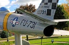 F86 μαχητής Πολεμικής Αεροπορίας Sabrejet Στοκ Εικόνα