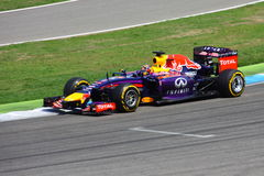F1 φωτογραφία - αυτοκίνητο του Red Bull Formula 1: Sebastian Vettel Στοκ Φωτογραφία