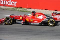 F1 φωτογραφία - αυτοκίνητο Ferrari Formula 1: Fernando Alonso Στοκ Φωτογραφία