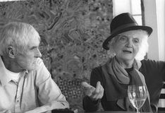 F. Тимоти Leary и Лаура Huxley стоковая фотография