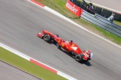 F1 фото - автомобиль Феррари формулы 1: Фернандо Алонсо Стоковые Изображения