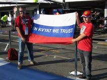 F1 фото - вентиляторы Daniil Kvyat Формула-1 Стоковая Фотография