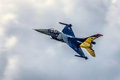 F-16从土耳其空军的猎鹰 库存图片