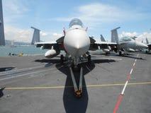 F-18喷气式歼击机 免版税库存图片
