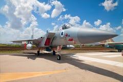 F-15在陈列的战斗机的美国独立日 免版税库存图片