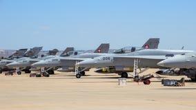 F-18大黄蜂喷气式歼击机 图库摄影