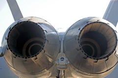 F/A-18大黄蜂喷气机废气流管子 库存图片
