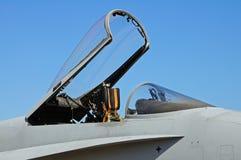 F-18大黄蜂战斗机机盖 库存图片