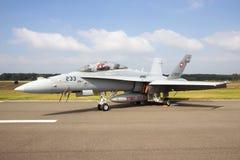 F-18大黄蜂瑞士人 免版税库存照片