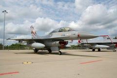 F-16弗洛雷讷比利时 免版税库存照片