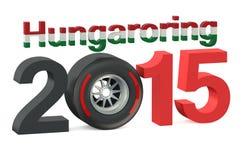 F1惯例1在Hungaroring 2015年匈牙利概念的格兰披治 库存图片