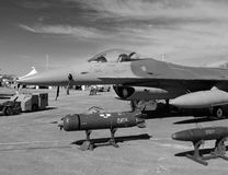 F-16战斗机航空器 免版税库存照片