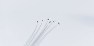 F-16战斗机airshow 库存图片