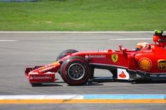 F1法拉利:吉躬・赖科宁-一级方程式赛车汽车照片 免版税库存照片