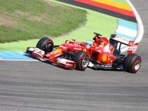 F1法拉利:费尔南多・阿隆索-一级方程式赛车汽车照片 图库摄影