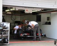 F1照片:惯例1 Sauber种族车的储蓄照片 免版税库存图片