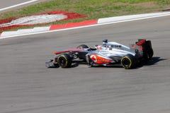 F1照片-惯例1汽车迈凯轮:詹森・巴顿 库存图片