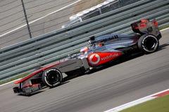F1照片-惯例1汽车迈凯轮:詹森・巴顿 免版税库存照片