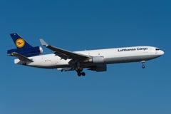 11f货物道格拉斯・汉莎航空公司mcdonnell md 图库摄影