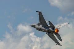 F-16猎鹰的演变 图库摄影
