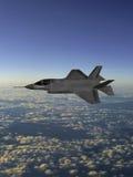F-35现代秘密行动战斗机 向量例证