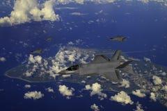 F-35现代秘密行动战斗机 皇族释放例证