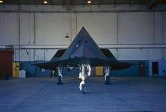 F-117秘密行动战斗机 图库摄影
