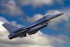 F-16美国空军国民警卫队喷气机 免版税库存照片