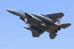 F-15老鹰着陆 图库摄影