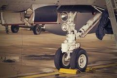 F18降落轮细节 免版税库存照片
