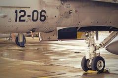 F18降落轮 免版税库存图片