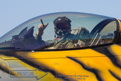 F-16飞行员 库存照片